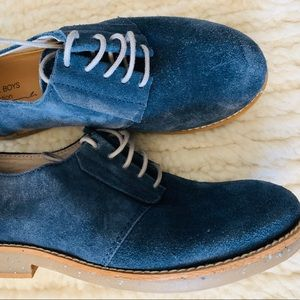 ZARA blue suede leather dress shoes boys size 32
